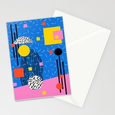 Crunk - 80s retro throwback minimal abstract painting memphis style trendy vibes all day Stationery Cards