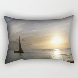 Chasing Sunsets in Hawaii Rectangular Pillow