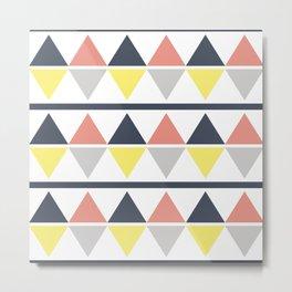 Rhombus and stripes pattern Metal Print