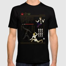 hero-glyphics: The Force Black LARGE Mens Fitted Tee