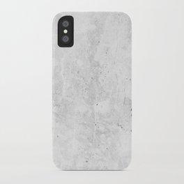 White Light Gray Concrete iPhone Case