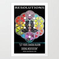 Chakranicity Resolutions 6 Art Print