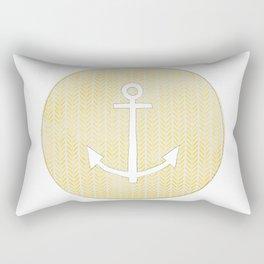 Anchor in Yellow Rectangular Pillow