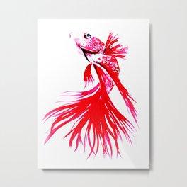 Red Fish - watercolor illustration  Metal Print