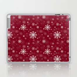 Red pattern with snowflaks Laptop & iPad Skin