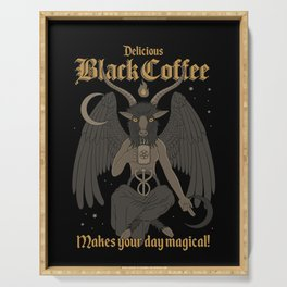 Black Coffee Serving Tray