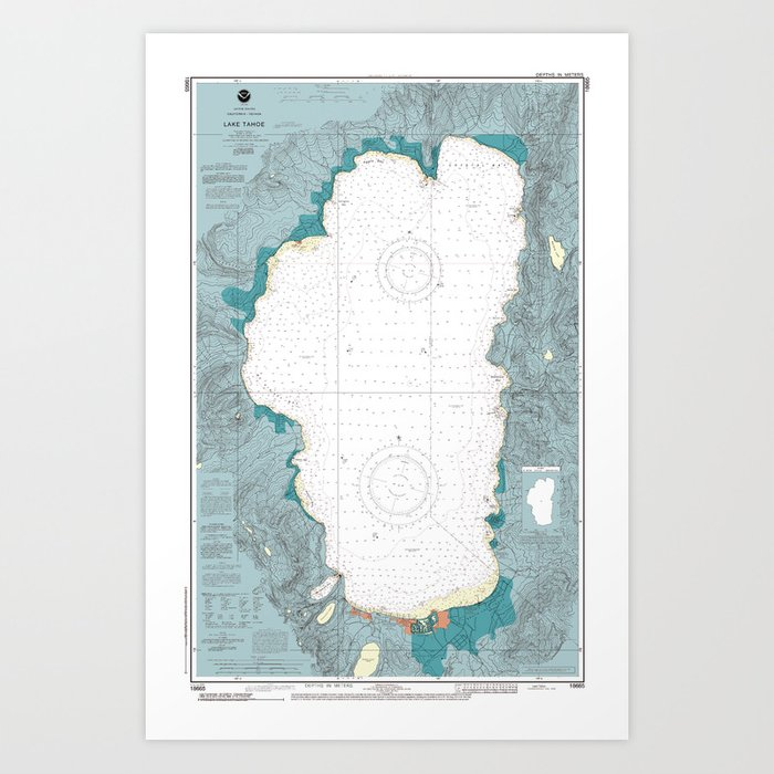 Lake Tahoe Kunstdrucke