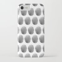 polkadot iPhone & iPod Cases featuring Watercolour polkadot black by Mouseblossom