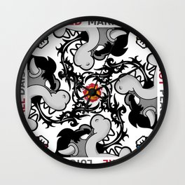 Red Hot Fire Ball  Wall Clock