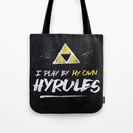 Legend of Zelda Inspired Type I Play by My Own Hyrules Tote Bag