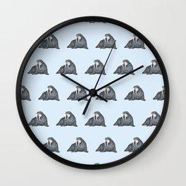 Frank Wallace in Blue Pattern Wall Clock