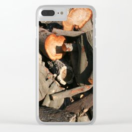 Wooden stumps Clear iPhone Case