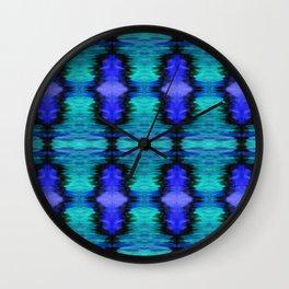 Bright Night Ikat pattern Wall Clock