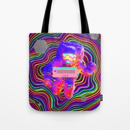 Trippy astronaut Tote Bag
