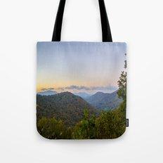 Sleepy valley town Tote Bag
