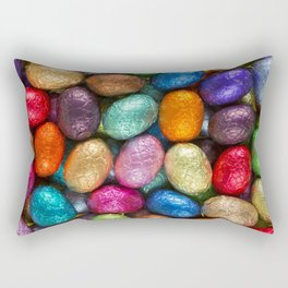 Multi-coloured chocolate Easter eggs Rectangular Pillow