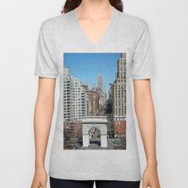Washington Square Arch & 5th Ave NYC  Unisex V-Neck