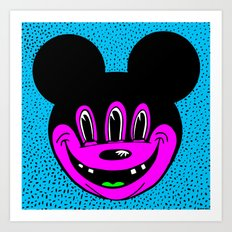 MICKEYES. (Hypink Buck-Tooth). Art Print