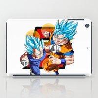 dbz iPad Cases featuring DBZ - Vegeta & Goku SSJ God II by Mr. Stonebanks