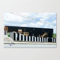 stripe Canvas Prints featuring Stripe by Quinn Ballard