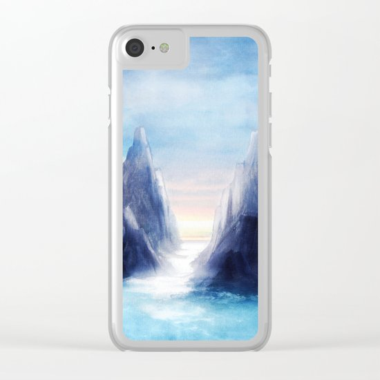 Over The Mountains III Clear iPhone Case