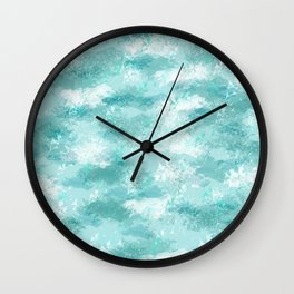 Cloudy Marble Wall Clock