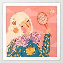 Anyone for badminton  Art Print