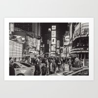 New York City In Black and White - Series Art Print