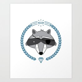 Mr. Raccoon Art Print