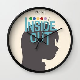 Inside Out - Minimal Movie Poster Wall Clock