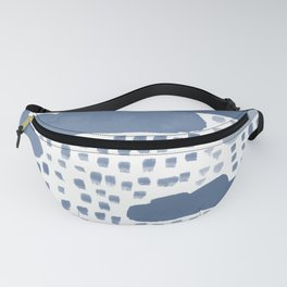 Hand Painted Rain Clouds Shades of Grey Fanny Pack