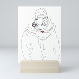 Lipstick Portrait Mini Art Print