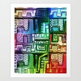 City Compartment Art Print