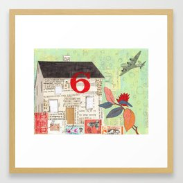 House Number 6 Framed Art Print