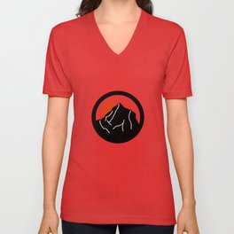 blood mountain Unisex V-Neck