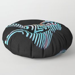 5143s-MAK Zebra Stripe Curves Sensual Female Body Art Floor Pillow