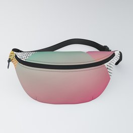 Pink abstract triangle Fanny Pack