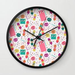 Yarn Party Wall Clock