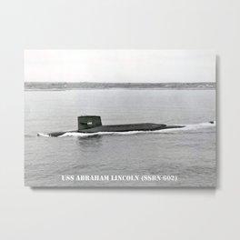 USS ABRAHAM LINCOLN (SSBN-602) Metal Print