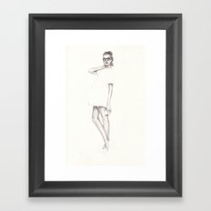 No.3 Fashion Illustration Series Framed Art Print