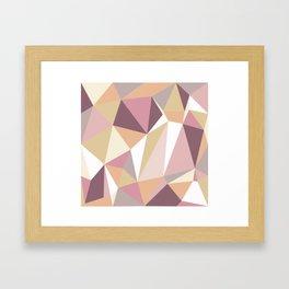 Geometric Art Pastel Color Framed Art Print