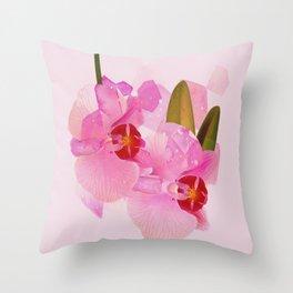 broken orchid Throw Pillow