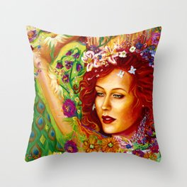 The Sparkling Flower Throw Pillow