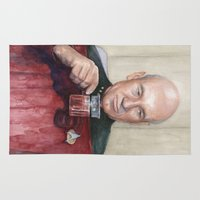 picard Area & Throw Rugs featuring Captain Picard Earl Grey Tea | Star Trek Painting by Olechka