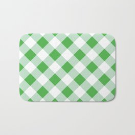 Gingham - Green Bath Mat