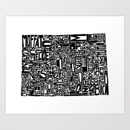 Typographic Colorado Art Print