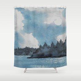 Moonlit Lake Shower Curtain