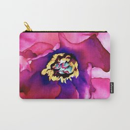 Fuchsia Tree Peony Watercolour Carry-All Pouch