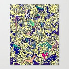 Kamasutra LOVE - Piss Yellow Canvas Print
