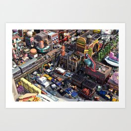 Downtown Life Art Print
